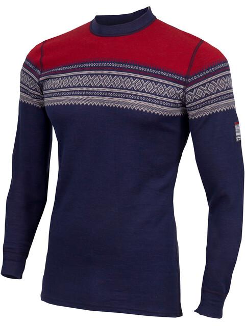 Aclima DesignWool Marius - Camiseta de manga larga Hombre - azul/Multicolor